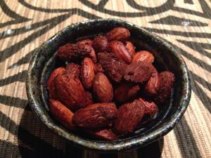 sweet roasted almonds