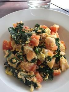 salmon veggie scramble